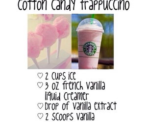 starbucks, cotton candy, and diy image
