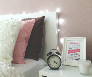 bedroom, light, and girly image