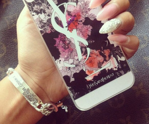 nails, iphone, and YSL image