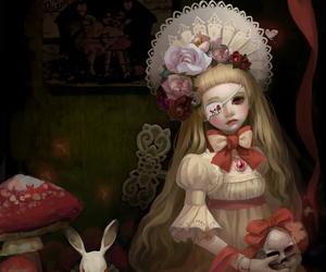 alice in wonderland, art, and lolita image