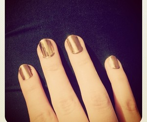 gold, golden, and nails image