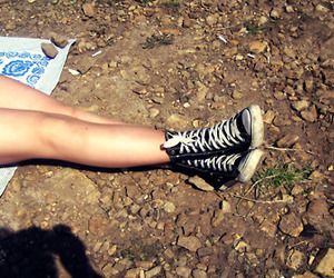 converse, feet, and legs image