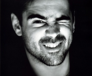 colin farrell, actor, and black and white image