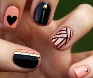 gold, manicure, and nail polish image