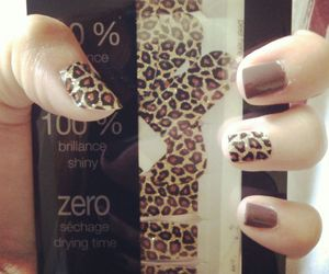 leopard, polish, and nails image