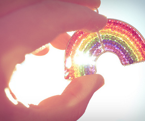 beads, photography, and rainbow image