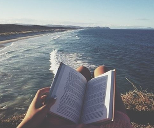 books, ocean, and free image