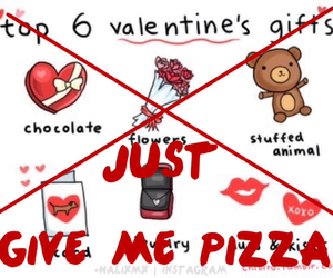 pizza, valentines, and valentines day image