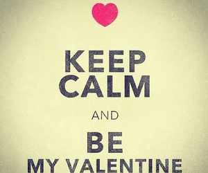 love, valentine, and keep calm image