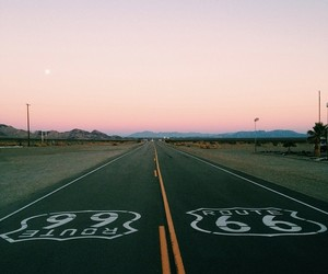 california, route 66, and sky image