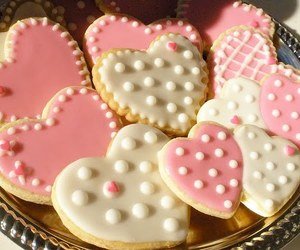 Cookies, pink, and heart image