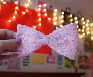 bows, floral, and pink image