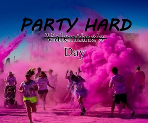 girls, party hard, and pink image