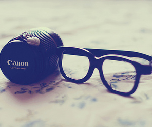 glasses, canon, and photography image