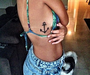 girl, tattoo, and anchor image