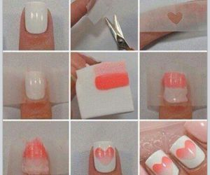 nails, polish, and ombre image
