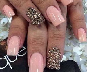 diamonds, girl, and nails image