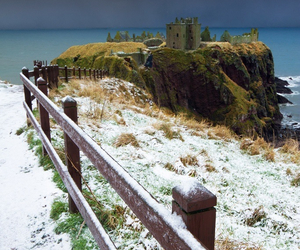 scotland, castle, and winter image