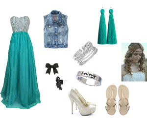 curly hair, dresses, and heels image
