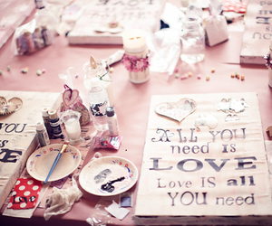art, valentines, and love image