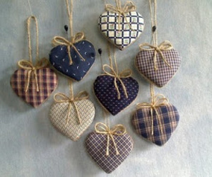 hearts, material, and rustic image