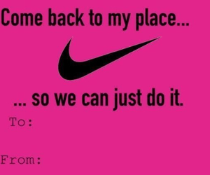 Just Do It, nike, and valentines day card image