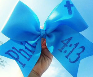 bible, blue, and bow image