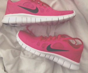 exercise, nike, and pink image