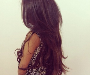 hair, brunette, and fashion image