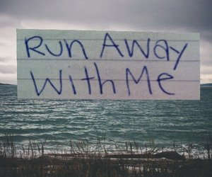 love, run, and away image