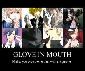 anime, gloves, and sexy image