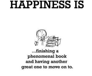 book, happiness, and quote image