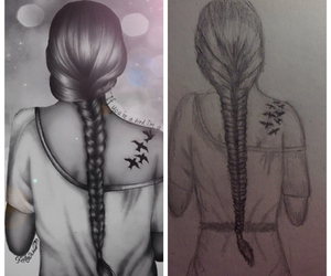 birds, braid, and copy image