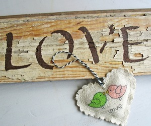 birds, shabby chic, and sign image