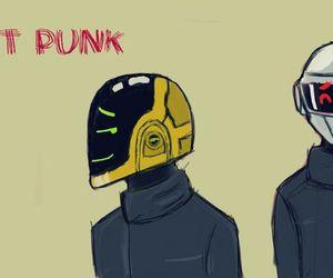 art, cartoon, and daft punk image