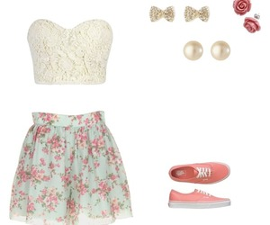 casual, floral, and girlie image
