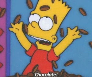 chocolate, simpsons, and love image
