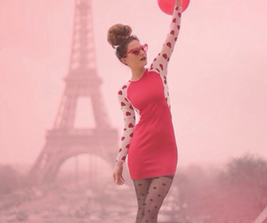 paris, red, and dress image