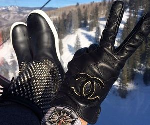 chanel, snow, and winter image