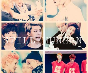 Collage, couple, and exo image