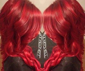 hair, red, and fashion image