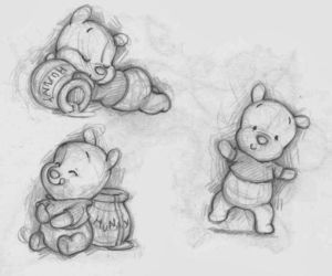 bear, cartoon, and cute image