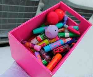 eos, baby lips, and make up image