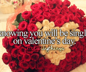 single, Valentine's Day, and rose image