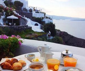 breakfast, food, and sea image