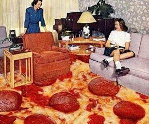 pizza, grunge, and vintage image