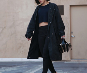 fashion, short hair, and all black image