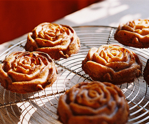 flowers, rose, and food image
