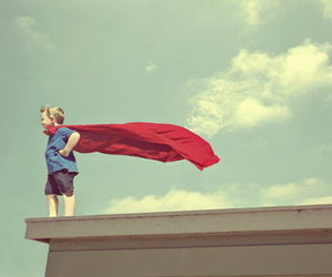 boy, superman, and little image