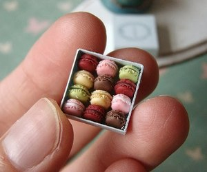 cute, miniature, and macaroons image
